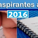 LISTA DE ASPIRANTES 2016
