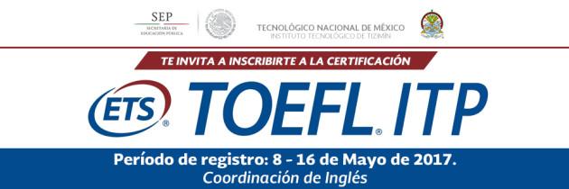 Registro para examen TOEFL