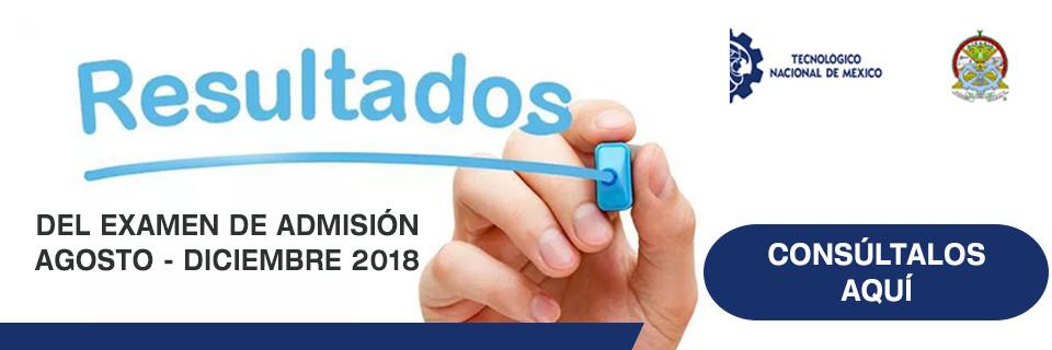 Resultados de examen de admision 2018