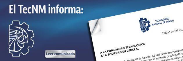 COMUNICADO TecNM