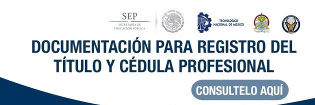Documentación Título y Cédula Profesional