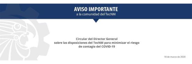 Comunicado DG ante COVID-19