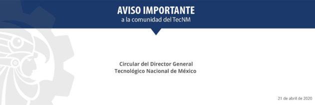 Comunicado Director General 21_04_2020