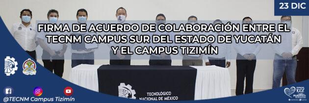 Firma de Convenio Campus Sur del Estado y Tizimin