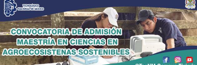 Oferta Educativa Maestría en Ciencias del TecNM Campus Tizimín