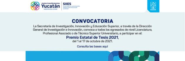 Premio Estatal de Tesis 2021
