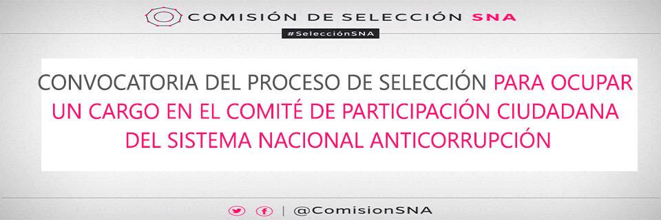 Convocatoria Sistema Nacional Anticorrupción